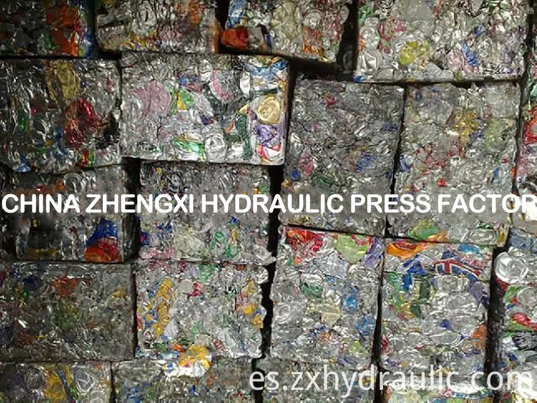 metal block recycling molding hydraulic press metal packaging