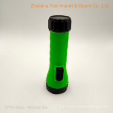 Plastic Battery Torch Flashlight with 2D Size Dry Battery