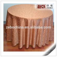 Custom Poliéster Jacquard casamento e banquete usado 90 toalha de mesa redonda