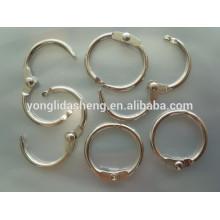 Verschiedene Zinklegierung Metall Ring Design für Beutel Zubehör