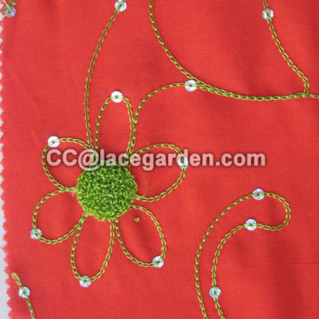 135cm Width Chain Embroidery Fabric