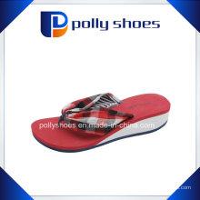Filles Beach Flip Flops Platform Wedge talon pompes pantoufles