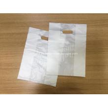 D corte chaleco bolsa de compras de plástico