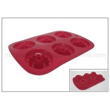 6 tazas de molde de goma de goma de silicona (RS03)