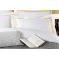 400 Thread Count Fabric with Gold Logo Wholesale Plain Linen Pillow Covers