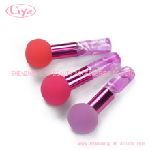 Beauty cosmetic powder brush with acrylic handle