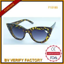 Nuevo diseño tendencias gafas de sol para dama, la FDA y la Ce (F15185)