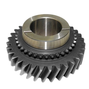 double spiral helical metal gear wheel
