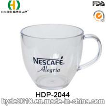 Plain Eco-Friendly Plastic Coffee Mug with Handle (HDP-2044)