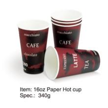 Einzelne Wand Papier Hot Coffee Cup 8oz / 12oz / 16oz