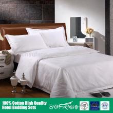 O hotel 5 estrelas do OEM usou a folha de cama de linho do hotel da tela lisa do algodão egípcio