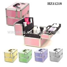 caso cosmético de aluminio de venta caliente de alta calidad de varios colores