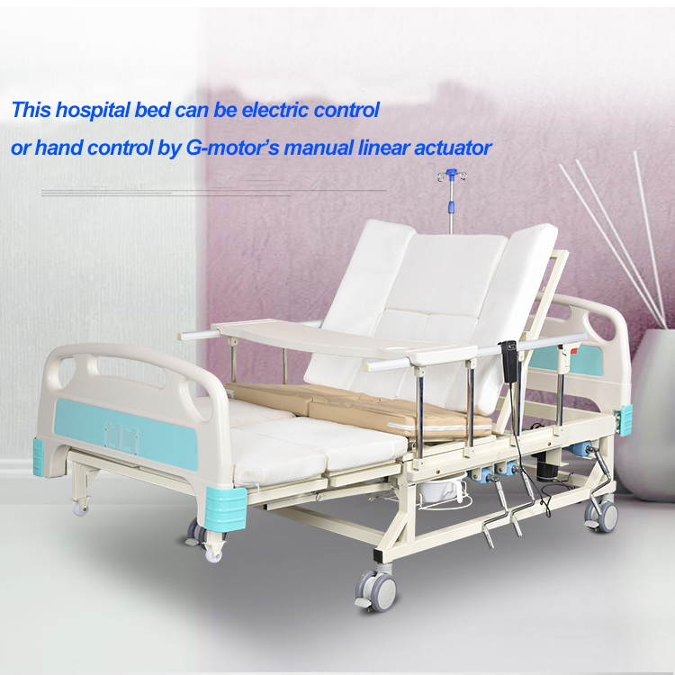 hospital bed with actuator