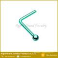 Unisexe L formé disponible personnalisé Boule en forme de L en forme de goujons de nez
