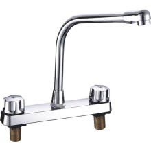 ABS Kitchen Plastic Faucet Mixer with Two Handle (JY-1026)