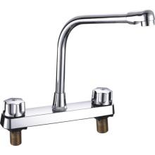 АБС кухонный Смеситель Пластиковые Смеситель с двумя ручка (дя-1026)