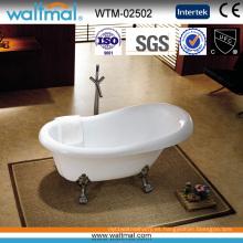 Bañera de pie clásica independiente con clawfoot