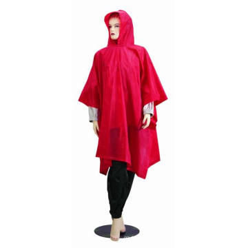 Functional and Economic Waterproof PVC Adult Rain Poncho