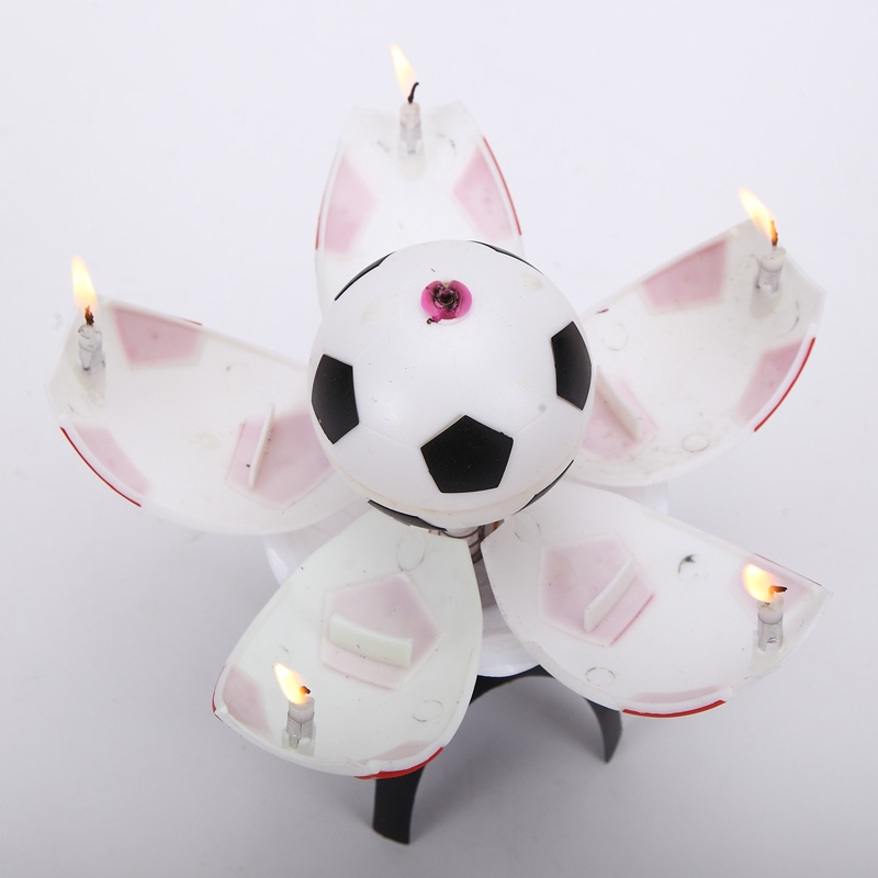 Football Soccer Trophy Birthday Music Candle
