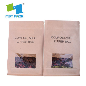 Plásticos de base biológica Kraft Compostable Green Bags