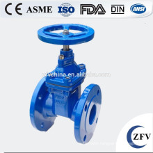 Flexible seat seal gate valve,flange connect non rising stem water gate valve