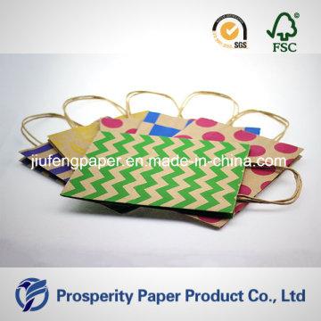 Bolsa de papel Kraft de impressão impressa