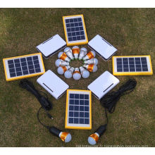 Chargeur solaire de batterie chargeant le système d'éclairage