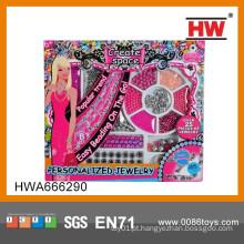 Venda quente da forma da beleza Jogo Set Brinquedo Jóias Set Toy ICTI Fábrica