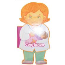 niños eva Enfermera de dibujos animados flip enseñanza libro de aprendizaje