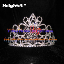 Mickey Head Pageant Crowns With Pink Bow