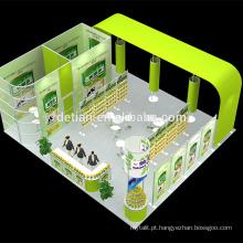 Detian personalizar carrinho de exposição de equipamentos de show de comércio barato cabine portátil