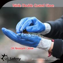 SRSAFETY 13G Трикотажные и химически стойкие нитриловые перчатки