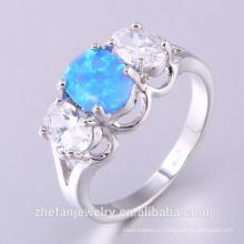 Оптовые серебряные ювелирные изделия 925 серебряное кольцо с опалом и CZ