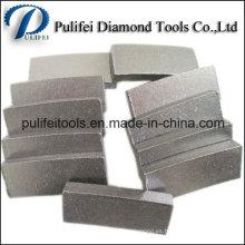 Segmento de diamante sólido para el corte de bloques de mármol