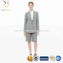 Chaquetas de traje de trabajo de lana de cachemira en cuello V para mujeres