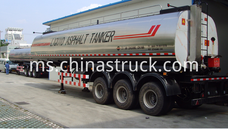 3 axle 30,000 liters liquid asphalt tanker