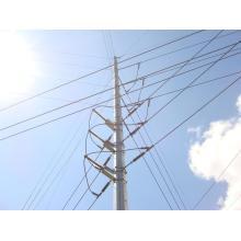 Linha de transmissão 66kV galvanizado aço elétrico pólo