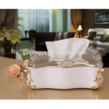 Guangzhou wholesales square resin tissue box decorative luxury tissue paper box