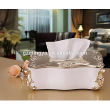 Гуанчжоу оптовая продажа площадь смолы коробка ткани декоративные роскошные ткани бумажная коробка