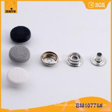 Tapón de nylon Botón de presión de metal BM10776