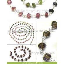Chaîne en perles en argent Chaînes à perles en pierres précieuses Fournisseur de perles en gros de haute qualité