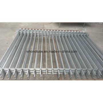 Элегантный стальной забор из кованого железа с копьем