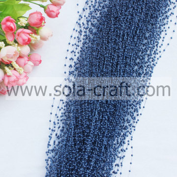 High Quality Cobalt Colors Pearl Beaded Garland with 3MM Size for Christmas Decoration Supplies