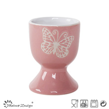 Silk Screen White Butterfly Small Egg Holder