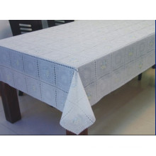 137cm PVC Gold/Silver Lace Tablecloth (JFTB-025)