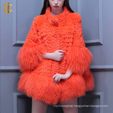 New Fashion Girls Real Lamb Fur Coat Tibet Sheep Fur Short Overcoat