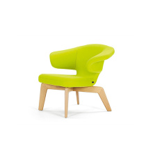 Supply for Leisure Chairs Leisure Munich Lounge Leather Upholstered Beech Armchair supply to United States Factories