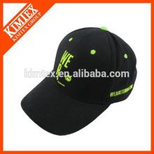 Casquillo de borde de encargo del broche de presión, gorra de béisbol con el logotipo