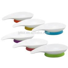 set de 3 sets de plats en céramique avec base en silicone