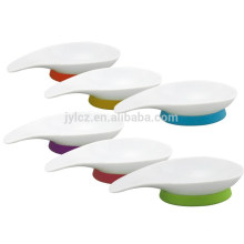 set of 3 ceramic serving dishes sets with silicone base